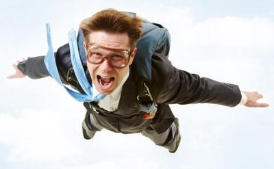 Прыжок с парашютом фотография
