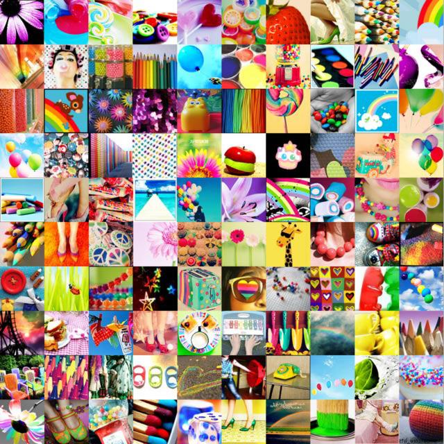 мозаика из маленьких картинок