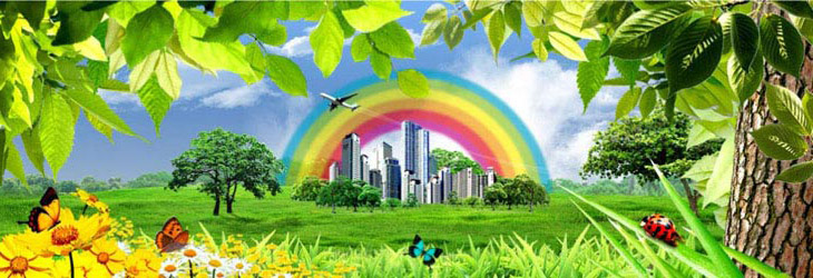 радуга над городом